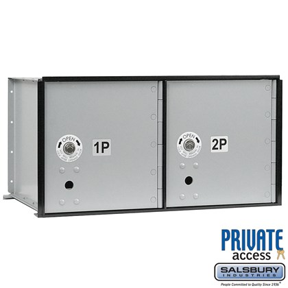Aluminum Parcel Locker (Includes Master Commercial Locks) - 2 Doors - Private Access