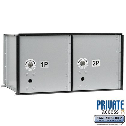 Aluminum Parcel Locker (Includes Master Commercial Locks) - 2 Doors - Private Access
