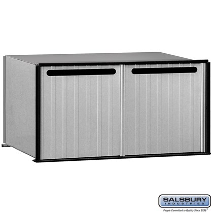 Aluminum Drop Box - 2 Compartments