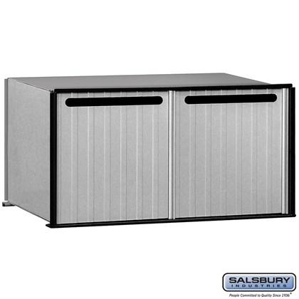 Aluminum Drop Box - 2 Compartments