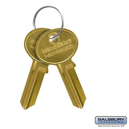 Key Blanks - for Standard Locks of Data Distribution Aluminum Boxes - Box of (50)