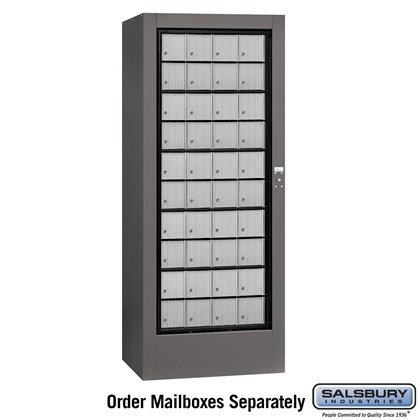 Rotary Mail Center (Includes Master Commercial Lock) - Aluminum Style - Private Access