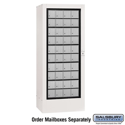 Rotary Mail Center - Aluminum Style - White - USPS Access