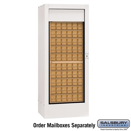 Rotary Mail Center (Includes Master Commercial Lock) - Brass Style - White - Private Access