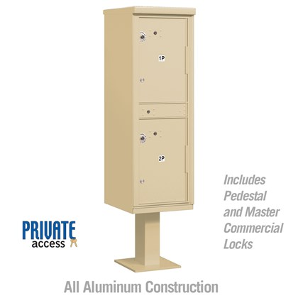 Outdoor Parcel Locker (Includes Pedestal and Master Commercial Lock) - Private Access