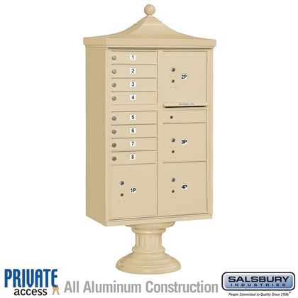 Regency Decorative CBU (Includes Pedestal, CBU Top and Pedestal Cover - Short and Master Commercial Locks) - 8 A Size Doors - Type VI - Private Access