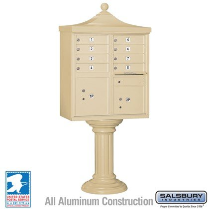 Regency Decorative CBU (Includes CBU, Pedestal, CBU Top and Pedestal Cover - Tall) - 8 A Size Doors - Type I - USPS Access