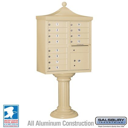 Regency Decorative CBU (Includes CBU, Pedestal, CBU Top and Pedestal Cover - Tall) - 12 A Size Doors - Type II - USPS Access