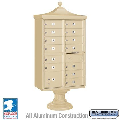 Regency Decorative CBU (Includes CBU, Pedestal, CBU Top and Pedestal Cover - Short) - 13 B Size Doors - Type IV - USPS Access