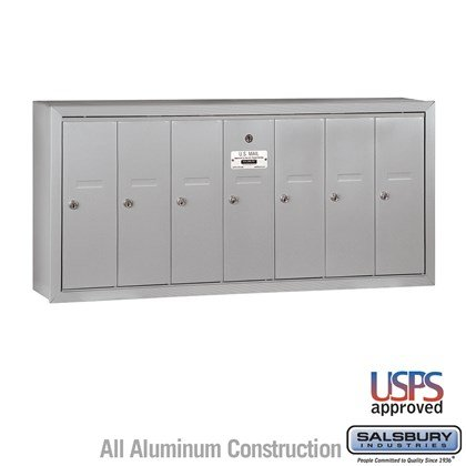 Vertical Mailbox - 7 Doors - Surface Mounted - USPS Access