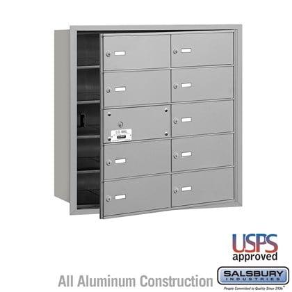4B+ Horizontal Mailbox - 5 Door High Unit - 10 B Doors (9 usable) - Front Loading - USPS Access