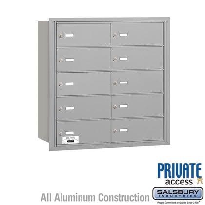 4B+ Horizontal Mailbox - 5 Door High Unit - 10 B Doors - Rear Loading - Private Access