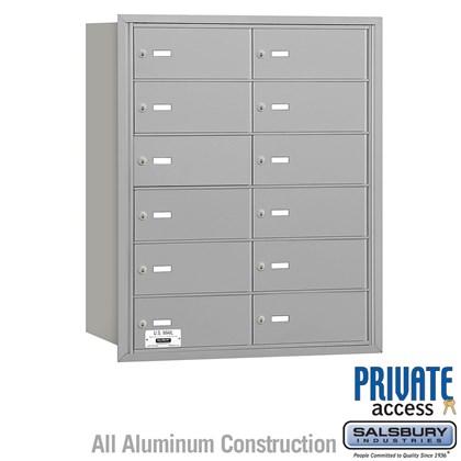 4B+ Horizontal Mailbox - 6 Door High Unit - 12 B Doors - Rear Loading - Private Access