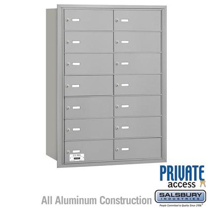 4B+ Horizontal Mailbox - 7 Door High Unit - 14 B Doors - Rear Loading - Private Access