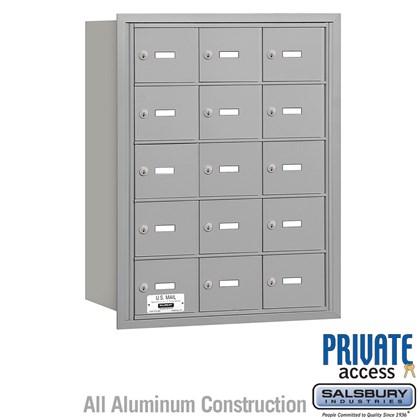 4B+ Horizontal Mailbox - 5 Door High Unit - 15 A Doors - Rear Loading - Private Access