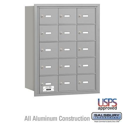 4B+ Horizontal Mailbox - 5 Door High Unit - 15 A Doors - Rear Loading - USPS Access