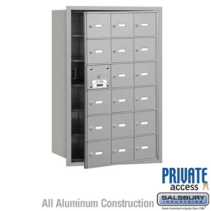 4B+ Horizontal Mailbox (Includes Master Commercial Lock) - 6 Door High Unit - 18 A Doors (17 usable) - Front Loading - Private Access