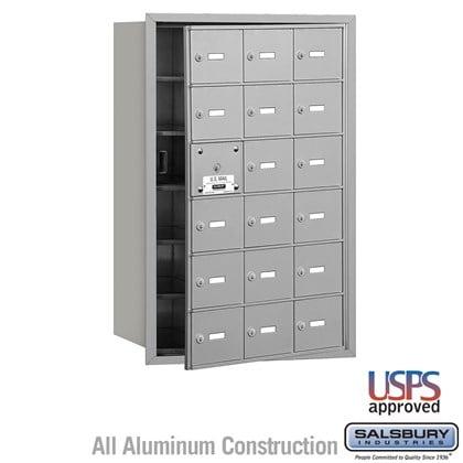 4B+ Horizontal Mailbox - 6 Door High Unit - 18 A Doors (17 usable) - Front Loading - USPS Access