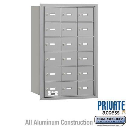 4B+ Horizontal Mailbox - 6 Door High Unit - 18 A Doors - Rear Loading - Private Access