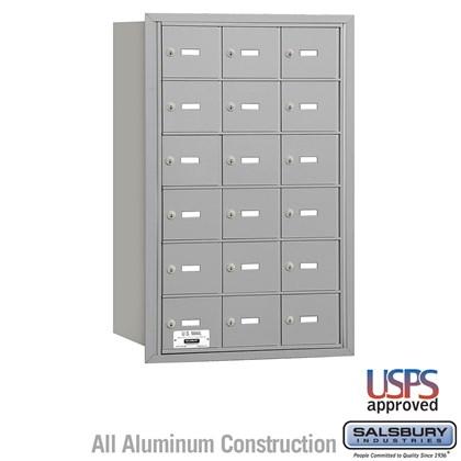 4B+ Horizontal Mailbox - 6 Door High Unit - 18 A Doors - Rear Loading - USPS Access