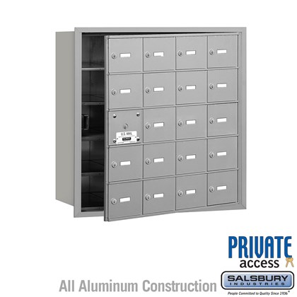 4B+ Horizontal Mailbox (Includes Master Commercial Lock) - 5 Door High Unit - 20 A Doors (19 usable) - Front Loading - Private Access