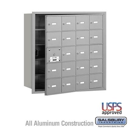 4B+ Horizontal Mailbox - 5 Door High Unit - 20 A Doors (19 usable) - Front Loading - USPS Access