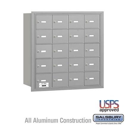 4B+ Horizontal Mailbox - 5 Door High Unit - 20 A Doors - Rear Loading - USPS Access