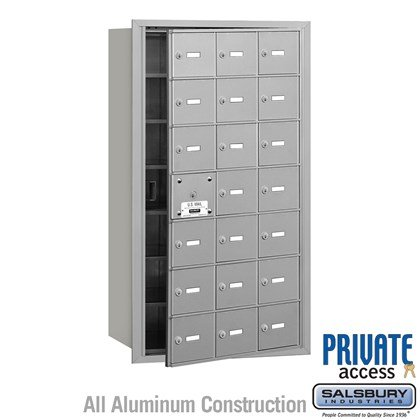 4B+ Horizontal Mailbox (Includes Master Commercial Lock) - 7 Door High Unit - 21 A Doors (20 usable) - Front Loading - Private Access