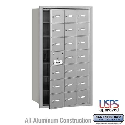 4B+ Horizontal Mailbox - 7 Door High Unit - 21 A Doors (20 usable) - Front Loading - USPS Access