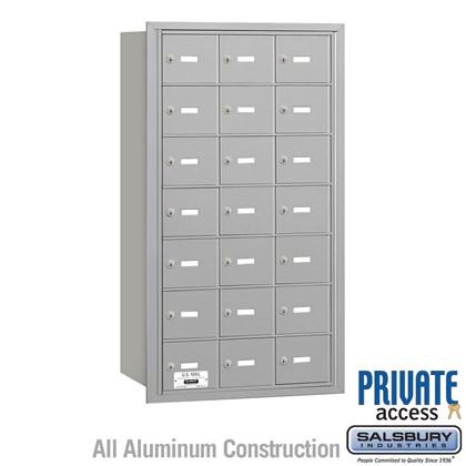4B+ Horizontal Mailbox - 7 Door High Unit - 21 A Doors - Rear Loading - Private Access