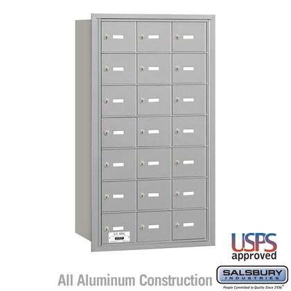 4B+ Horizontal Mailbox - 7 Door High Unit - 21 A Doors - Rear Loading - USPS Access