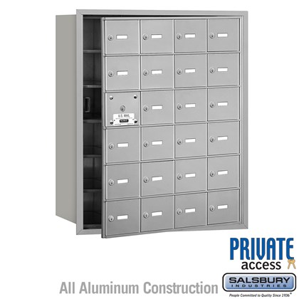 4B+ Horizontal Mailbox (Includes Master Commercial Lock) - 6 Door High Unit - 24 A Doors (23 usable) - Front Loading - Private Access