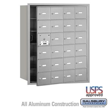 4B+ Horizontal Mailbox - 6 Door High Unit - 24 A Doors (23 usable) - Front Loading - USPS Access
