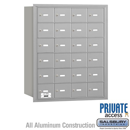 4B+ Horizontal Mailbox - 6 Door High Unit - 24 A Doors - Rear Loading - Private Access