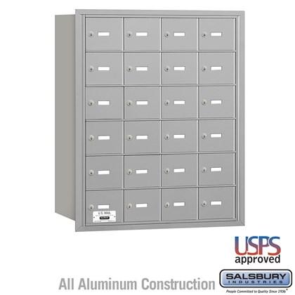 4B+ Horizontal Mailbox - 6 Door High Unit - 24 A Doors - Rear Loading - USPS Access