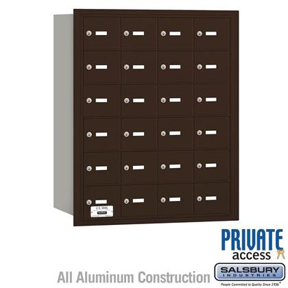 4B+ Horizontal Mailbox - 24 A Doors - Bronze - Rear Loading - Private Access