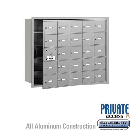 4B+ Horizontal Mailbox (Includes Master Commercial Lock) - 5 Door High Unit - 25 A Doors (24 usable) - Front Loading - Private Access