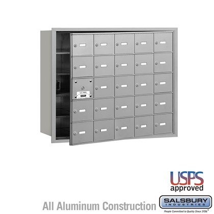4B+ Horizontal Mailbox - 5 Door High Unit - 25 A Doors (24 usable) - Front Loading - USPS Access