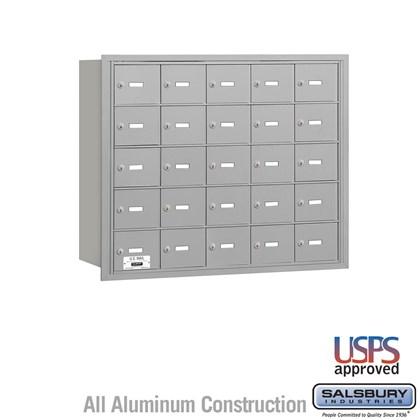 4B+ Horizontal Mailbox - 5 Door High Unit - 25 A Doors - Rear Loading - USPS Access