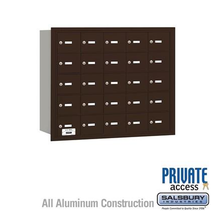 4B+ Horizontal Mailbox - 25 A Doors - Bronze - Rear Loading - Private Access