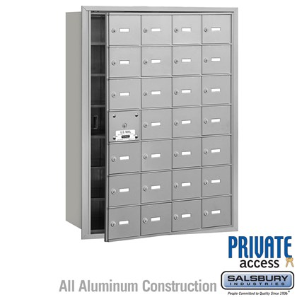 4B+ Horizontal Mailbox (Includes Master Commercial Lock) - 7 Door High Unit - 28 A Doors (27 usable) - Front Loading - Private Access