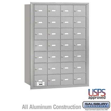 4B+ Horizontal Mailbox - 7 Door High Unit - 28 A Doors - Rear Loading - USPS Access