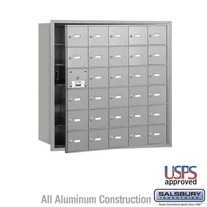 4B+ Horizontal Mailbox - 6 Door High Unit - 30 A Doors (29 usable) - Front Loading - USPS Access