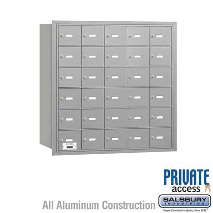 4B+ Horizontal Mailbox - 6 Door High Unit - 30 A Doors - Rear Loading - Private Access