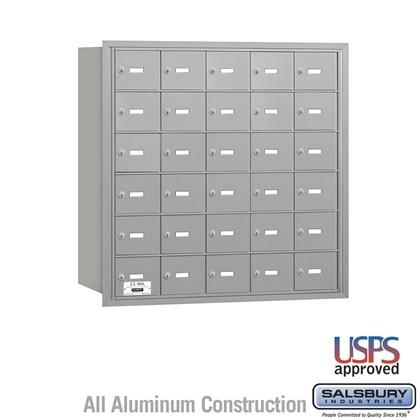 4B+ Horizontal Mailbox - 6 Door High Unit - 30 A Doors - Rear Loading - USPS Access