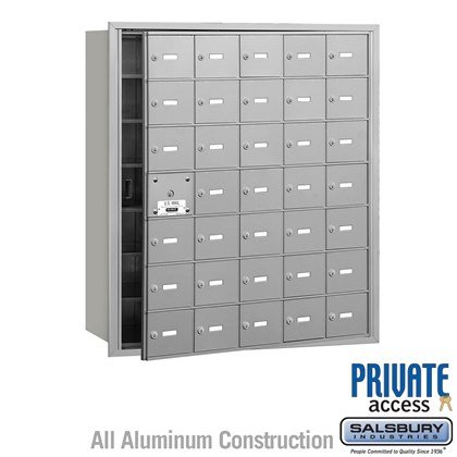 4B+ Horizontal Mailbox (Includes Master Commercial Lock) - 7 Door High Unit - 35 A Doors (34 usable) - Front Loading - Private Access