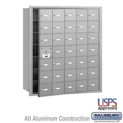 4B+ Horizontal Mailbox - 7 Door High Unit - 35 A Doors (34 usable) - Front Loading - USPS Access