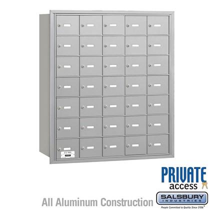 4B+ Horizontal Mailbox - 7 Door High Unit - 35 A Doors - Rear Loading - Private Access