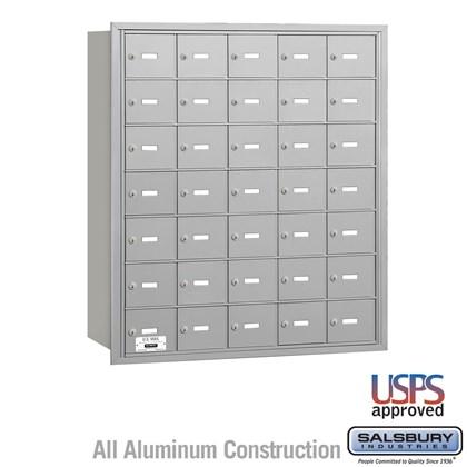 4B+ Horizontal Mailbox - 7 Door High Unit - 35 A Doors - Rear Loading - USPS Access