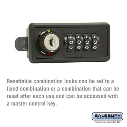 Resettable Combination Lock - for 4B+ Horizontal Mailbox Door